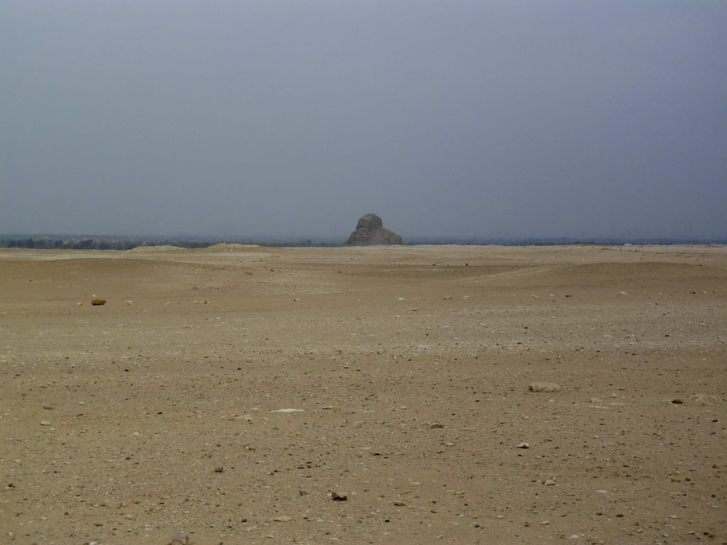 Looking toward the Black Pyramid of Amenemhat III at Dahshur from Sneferu's Bent Pyramid (photo: Thomas Greiner)